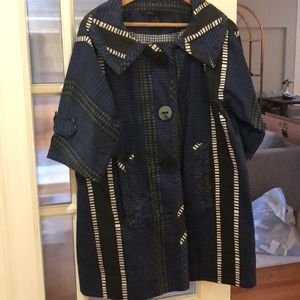 Marc Jacobs Cropped Sleeve Coat. Small.100%cotton